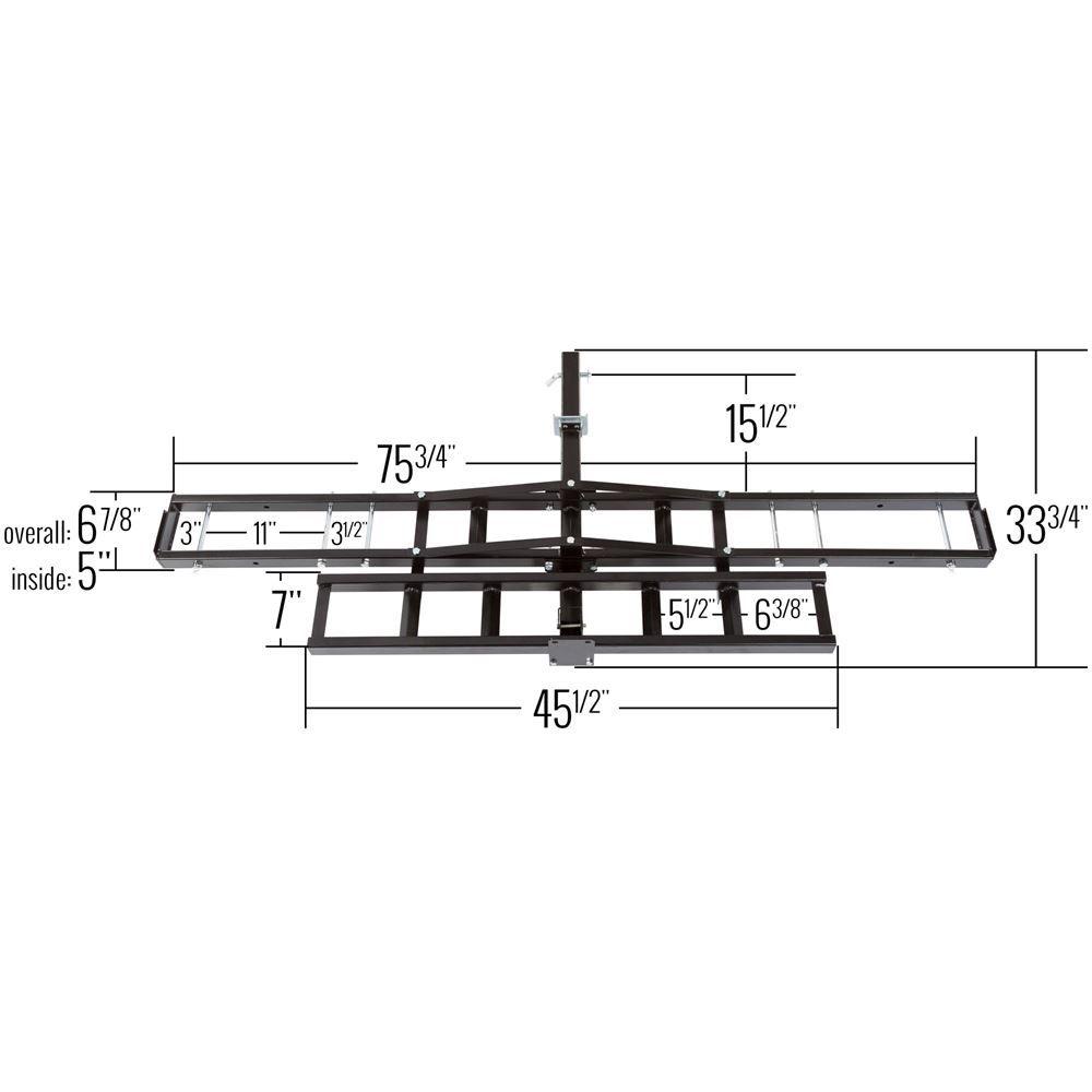 medium resolution of mcc 500 black widow steel motorcycle carrier 500 lb capacity 1