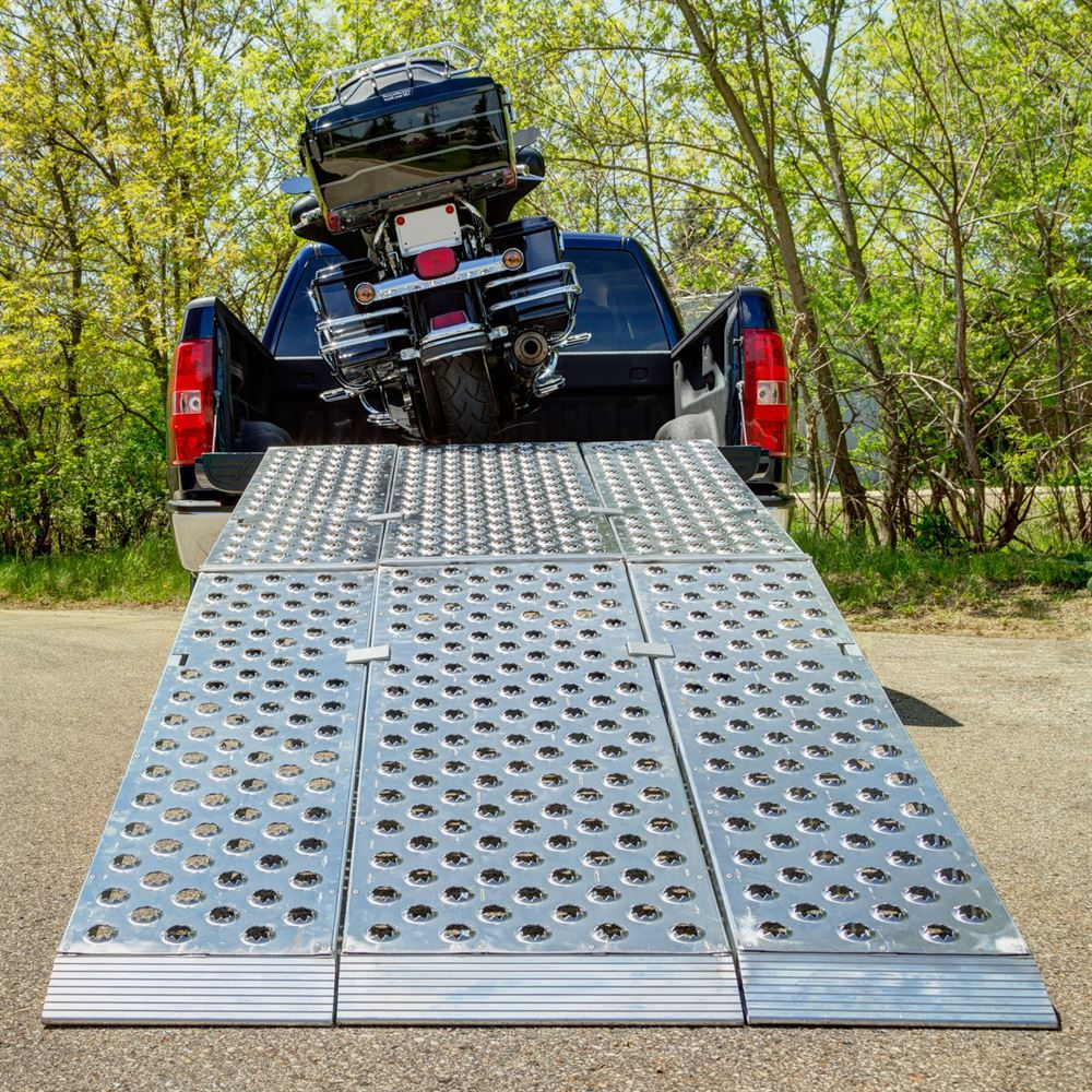 Aluminum Folding Motorcycle Ramp  3Piece  Big Boy EZ