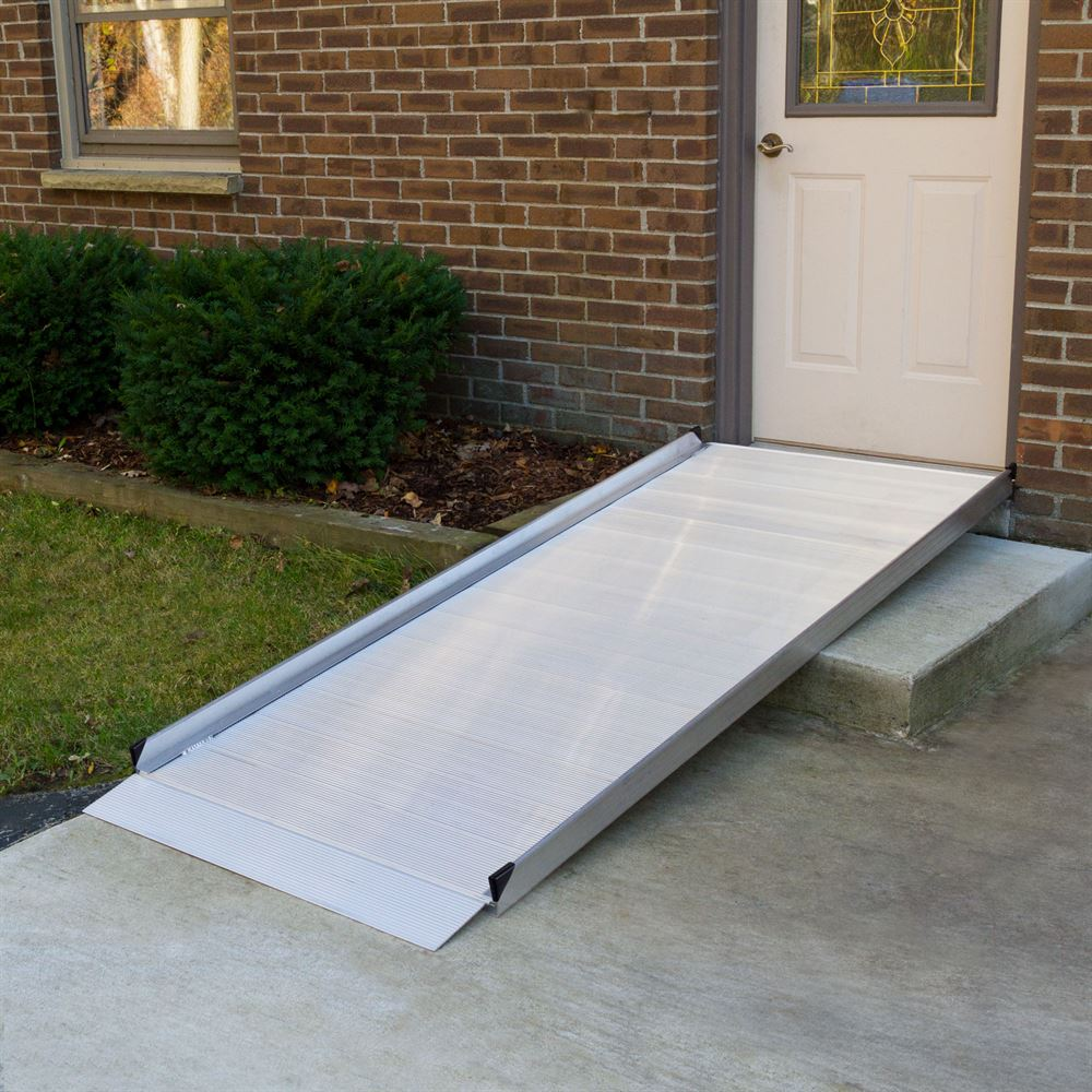 portable wheel chair ramp outdoor dining table and covers silver spring aluminum wheelchair access ramps | discount