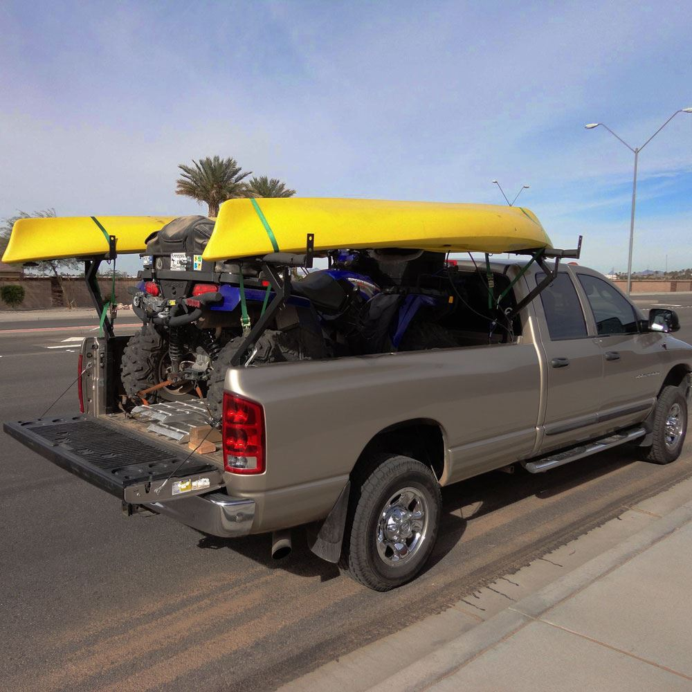 elevate outdoor steel adjustable three ladder rack