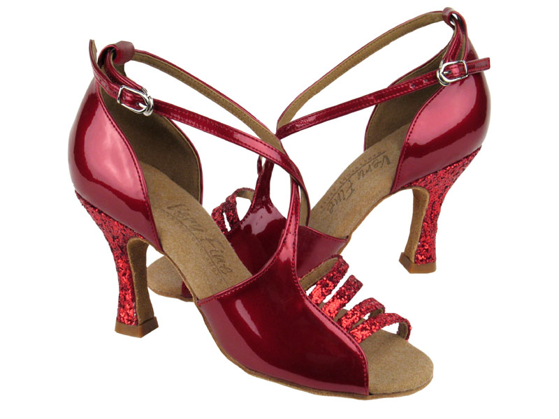 583dfe1c11 C1651 Red Sparkle & Red Patent - Discount Salsa Shoes