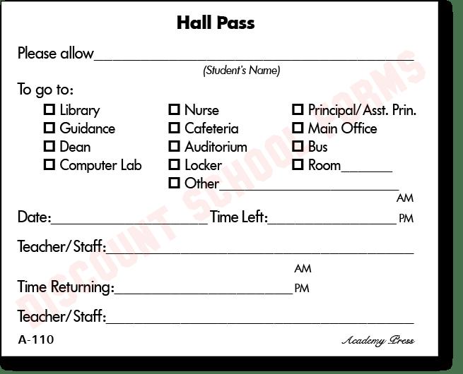 hall passes for school