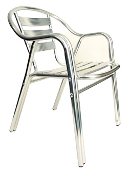 Aluminum Ladder Back Arm Chair AAALC_AL commercial