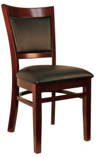 Sloan Padded Back Wood Chair H8279C commercial restaurant ...