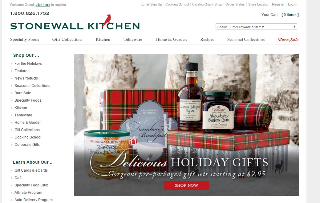 Get Stonewall Kitchen Coupons and Promo Code at