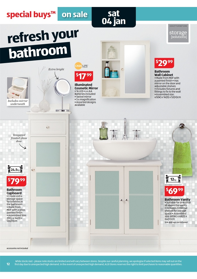 Aldi Catalogue 2014 Special Buys Week 1 Page 12