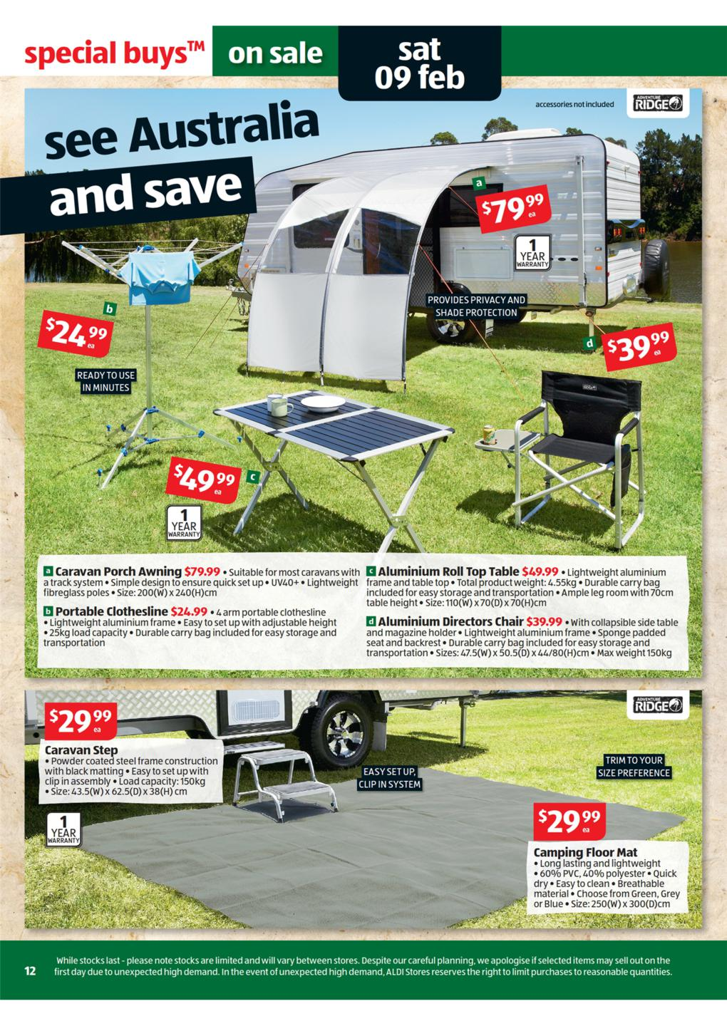 portable directors chair custom beach chairs aldi catalogue - special buys wk 6 2013 page 12