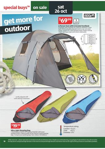 Aldi Outdoor Supplies from Week 43 Catalogue