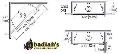 Napoleon Ascent 36 DV Gas Fireplace at Obadiah's Woodstoves.