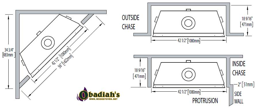 Napoleon Ascent 42 DV Gas Fireplace at Obadiah's Woodstoves.