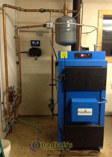 Econoburn Indoor Wood Boiler at Obadiah's Woodstoves.