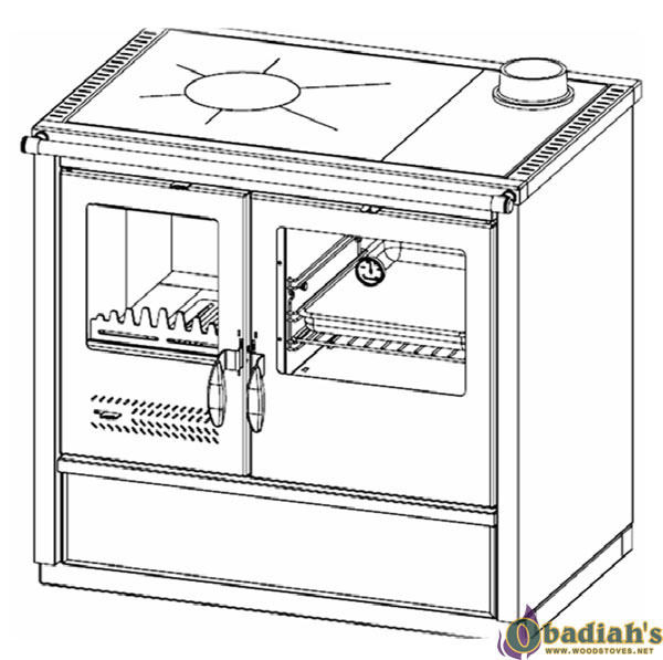 Tim Sistem North Hydro Wood Cookstove with Hydronic Boiler