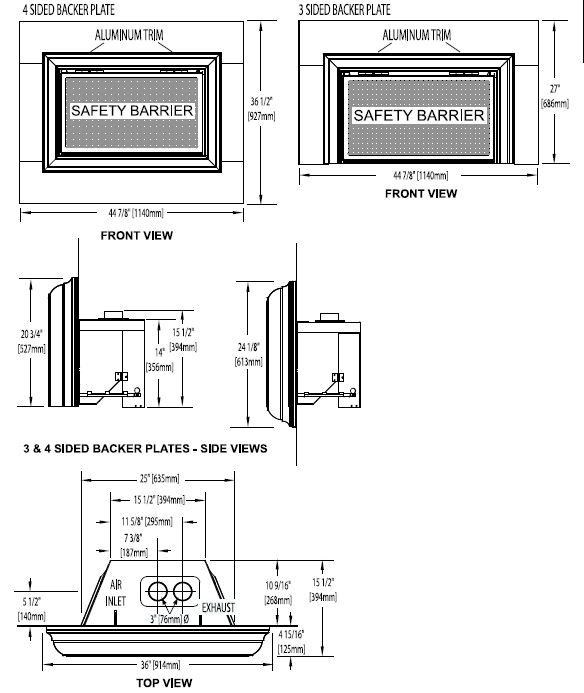 "Napoleon Inspirationâ""¢ ZC GDIZC Direct Vent Gas Fireplace"
