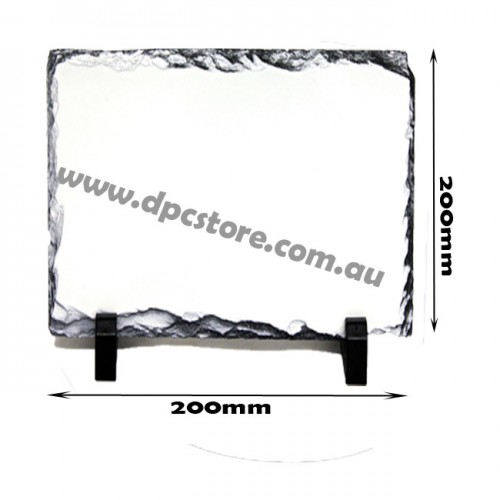 SQUARE SUBLIMATION INK ROCK PHOTO SLATE 20X20CM SH25
