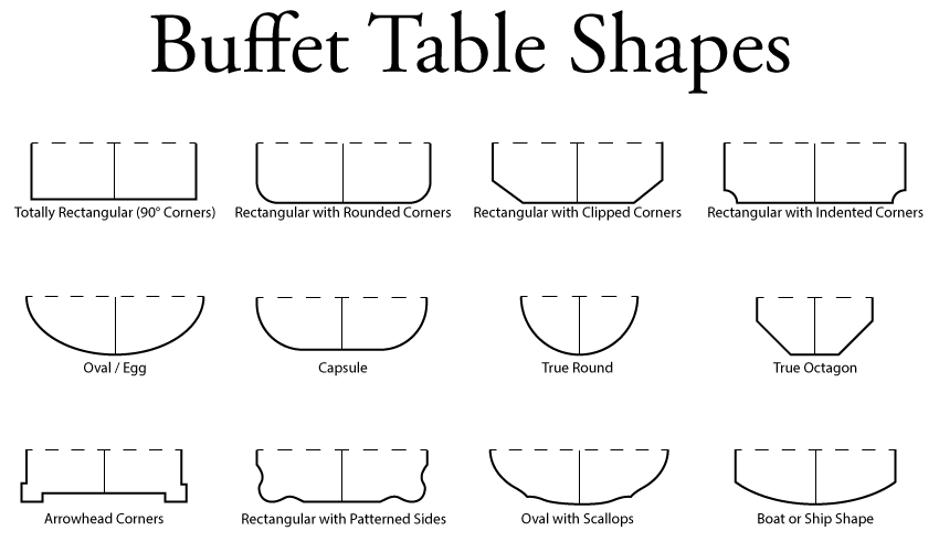 Buffet Server Sideboard Pad