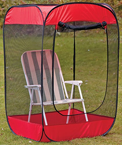 Insect Bug  Mosquito PopUp Screen Chair Tent Red