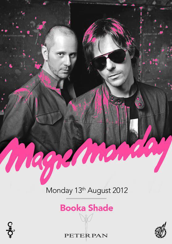 Lunedi 13 Agosto serata Magic Monday al Peter Pan con Djs Booka Shade e Massimino Lippoli