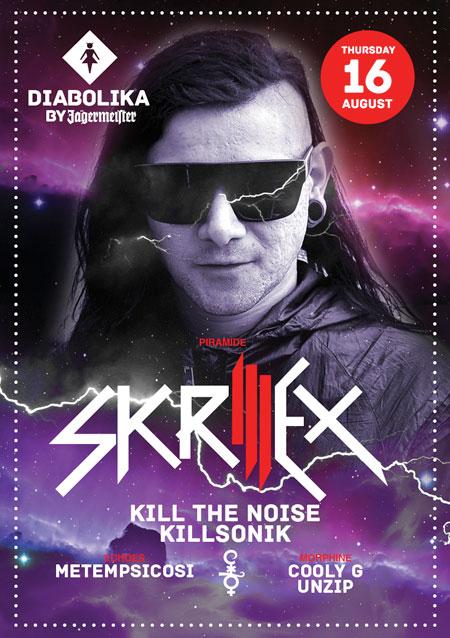 Giovedi 16 Agosto Skrillex Discoteca Cocorico Riccione Tour 2012