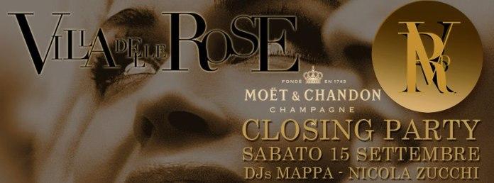 Festa di chiusura discoteca Villa delle Rose Sabato 15 Settembre