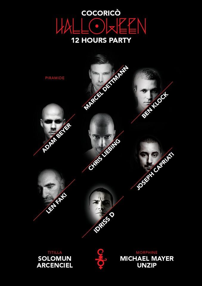 Halloween 2012 al Cocorico - 31 Ottobre in discoteca a Riccione