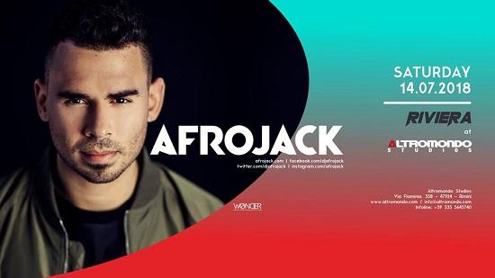 Afrojack all'Altromondo Studios di Rimini - Sabato 14 Luglio 2018
