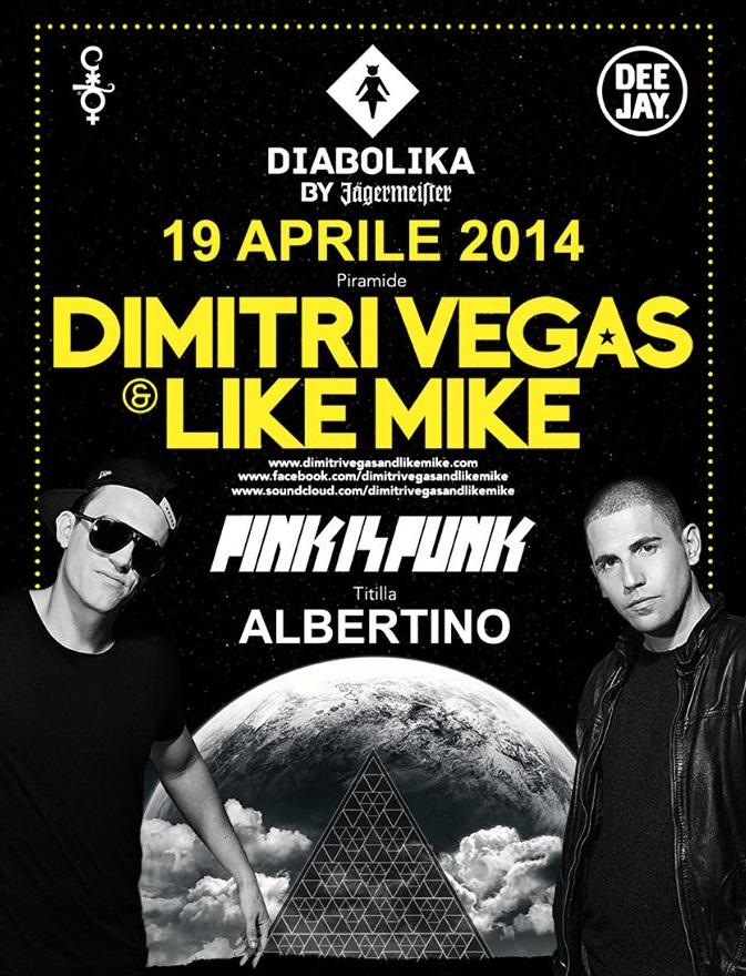 Sabato 19 Aprile Party di Pasqua 2014 Cocorico con Dimitri Vegas e Like Mike