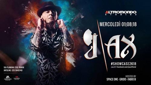 Mercoledi 1 Agosto all'Altromondo Studios di Rimini ospite J-Ax