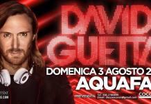Prenotazioni Prevendite David Guetta all'Aquafan Domenica 3 Agosto 2014