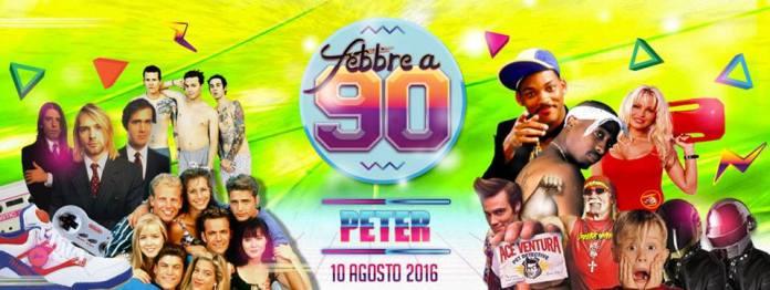 Il party Febbre a 90 al Peter di Riccione Mercoledi 10 Agosto