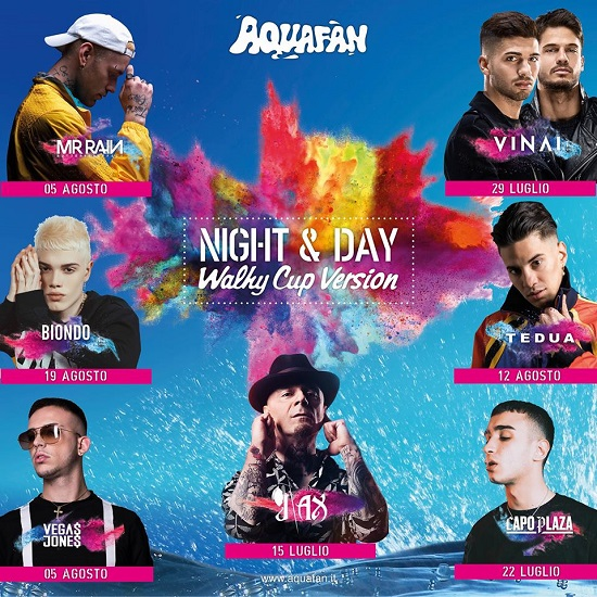 Calendario e programma ospiti Aquafan Night & Day Estate 2018