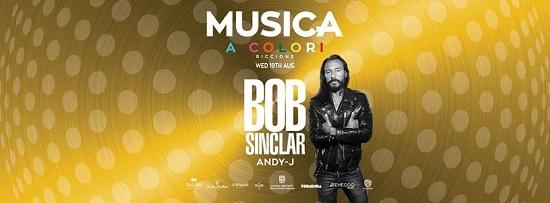 Il 19 Agosto Musica a Colori Riccione, special guest Bob Sinclar