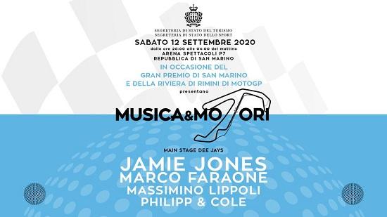 Il 12 settembre presso Arena Spettacoli San Marino Jamie Jones, Marco Faraone, ...