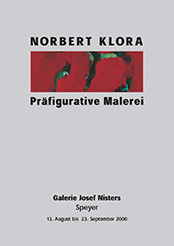 Norbert Klora, Exhibition Catalog 'Präfigurative Malerei', Josef Nisters Gallery, Speyer, 2000, contemporary art, painting, drawing, printing