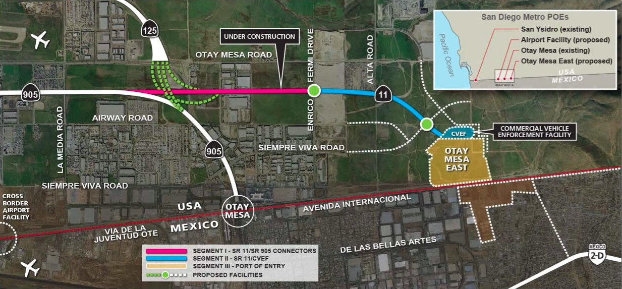 Otay Mesa East Port of Entry Border Crossing  Discover