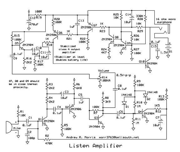 Listen Amplifier by Andrew R. Morris