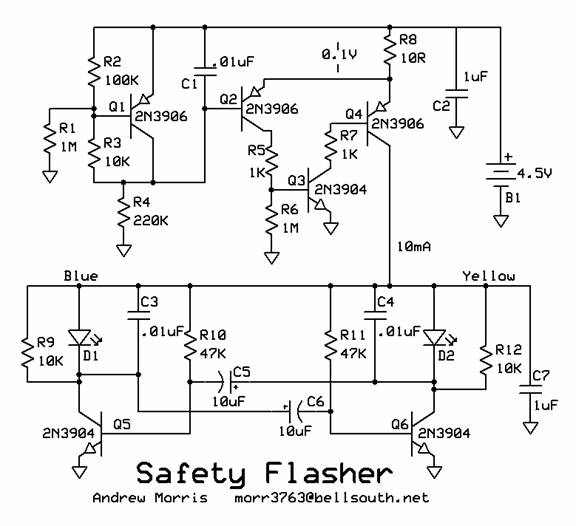 Safety Flasher Circut Designed by Andrew R. Morris