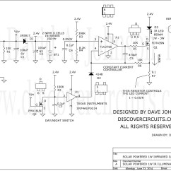3w Led Driver Circuit Diagram 2005 Ford Escape Fuse Box Solar Powered Infrared 1w Security Camera