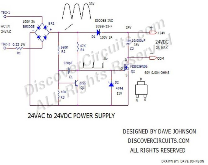 circuit 395power supply24 volts ac to 24 volts dc