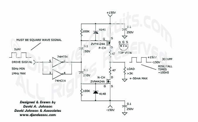 Circuit: 300V PEAK TO PEAK SIGNAL GENERATOR __ Circuit