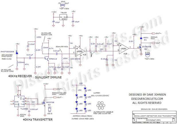 Circuit-40KHz Light Detector with Sunlight Immunity