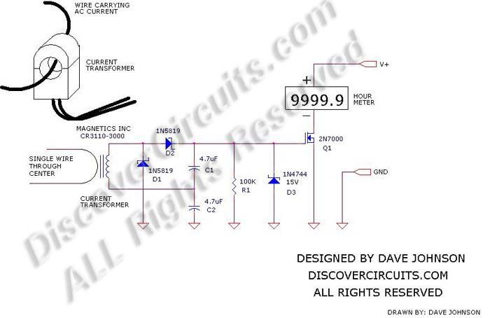 Circuit: #378- CT Hour Meter__ Circuit designed by David A