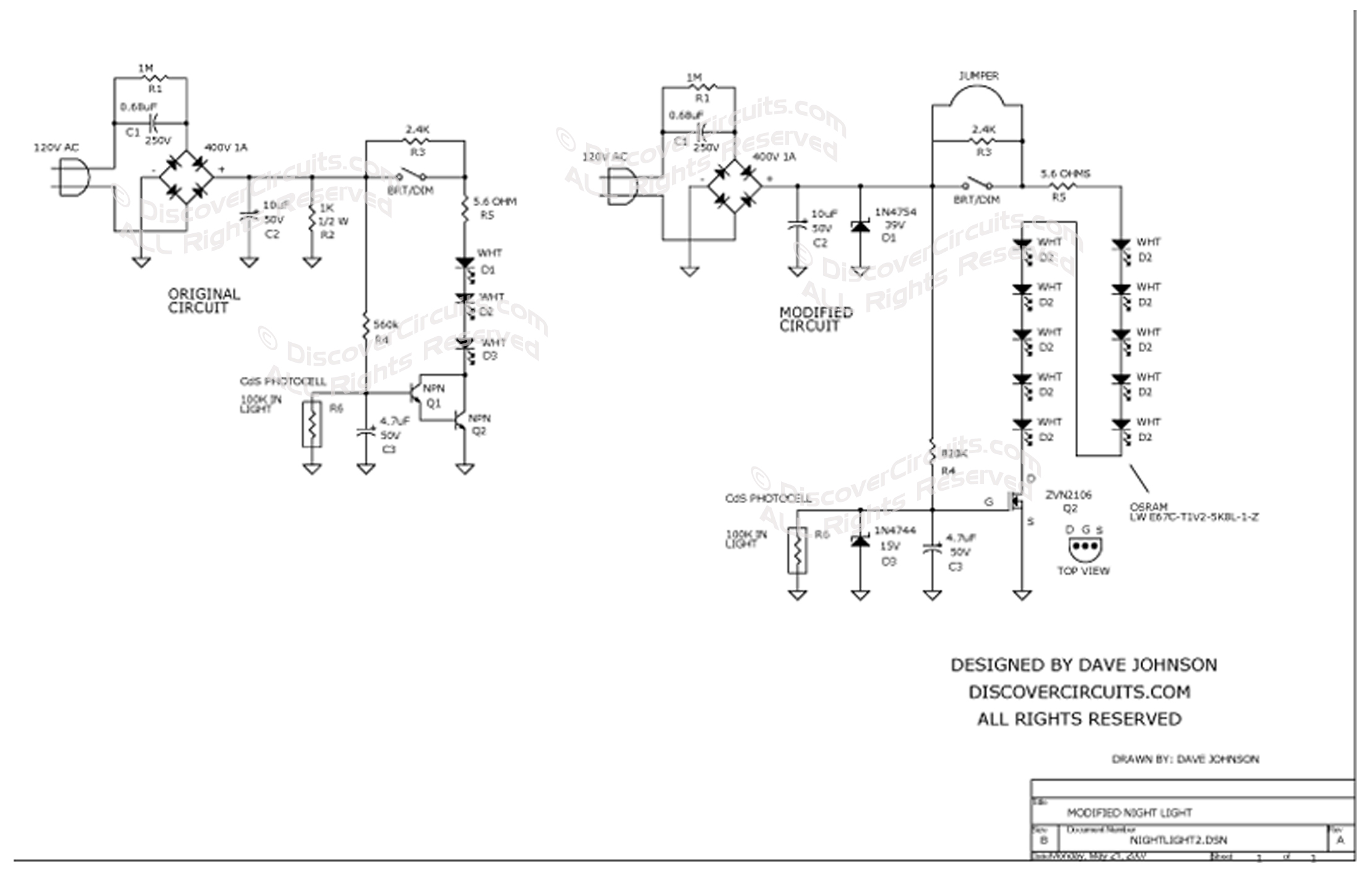 led wiring diagram 120v tekonsha prodigy p2 schematic bulb best library circuit modified night light utilitech pro by