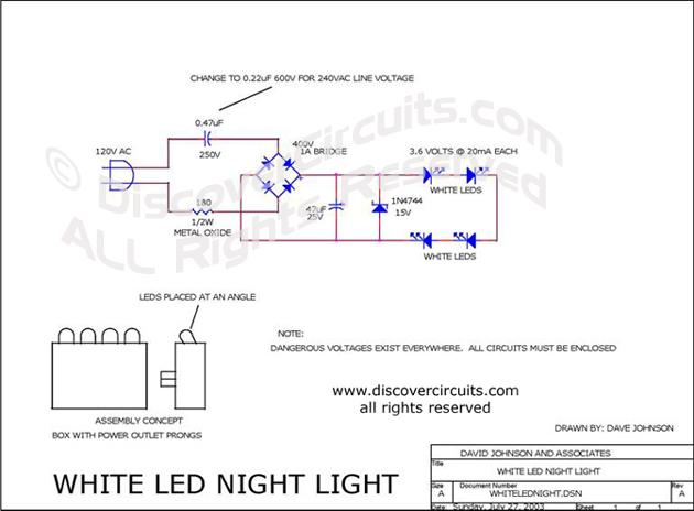 led wiring diagram 120v 1995 ford ranger alternator bulb circuit pdf great installation of white night light designed by david a rh discovercircuits com