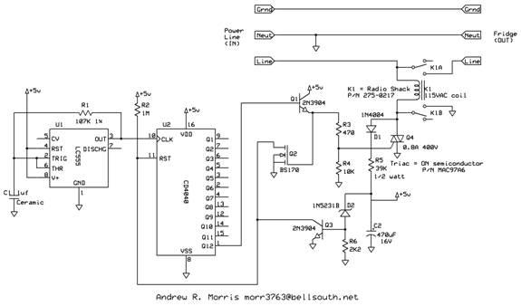 Fridge Saver Circuit by Andrew R. Morris