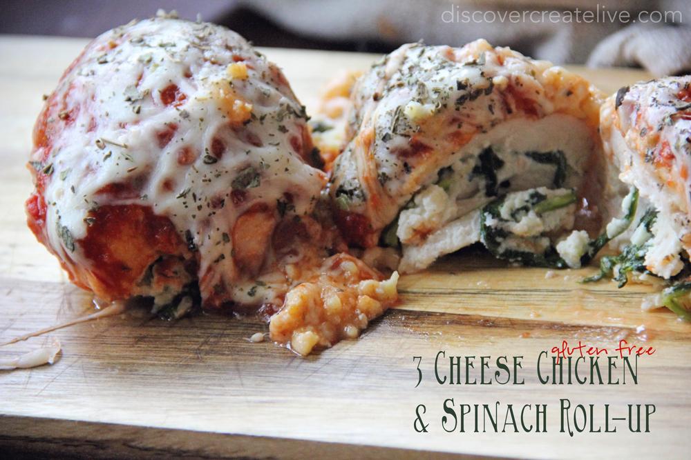 Gluten-Free-3-Cheese-Chicken-Spinach-Roll-Up-Recipe