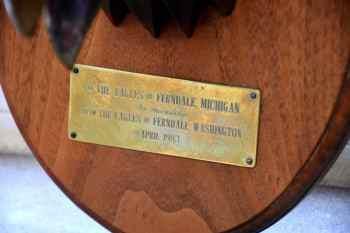 ferndale eagle plaque closeup