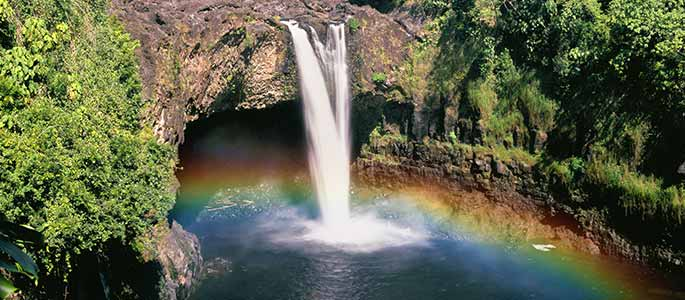 Hilo Town's Stunning Rainbow Falls