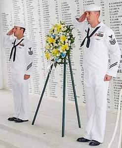 USS Arizona Memorial Remembrance Wall