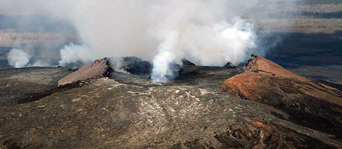 Aerial Views of Hawaii's Active Volcano