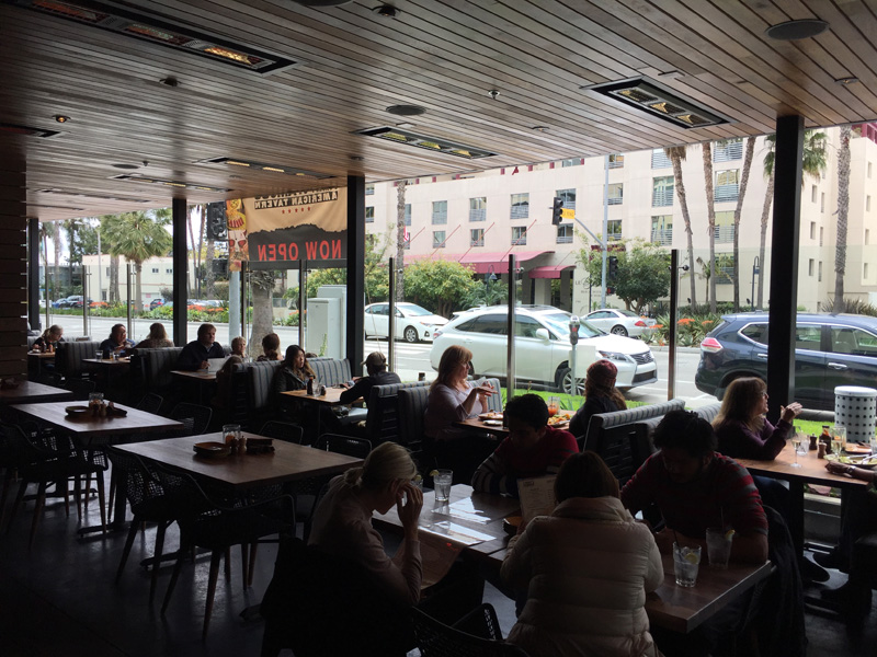 Indoor patio facing Ocean Blvd - Jimmys Famous